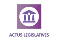 ACTUS LÉGISLATIVES : SEPTEMBRE 2019